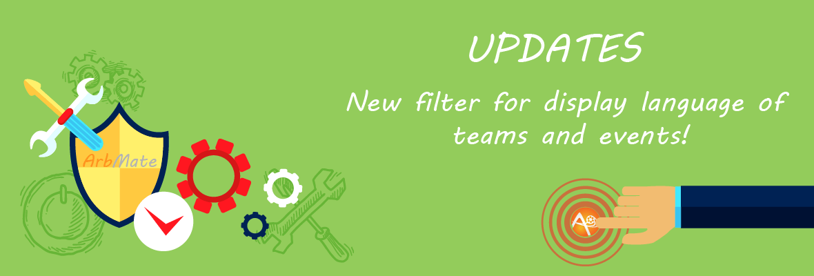 New visual filter for event and team names display language